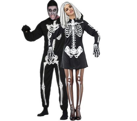 7 disfraces parejas halloween esqueletos
