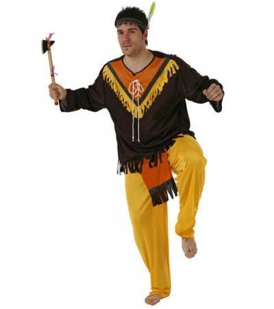 Disfraz casero de indio para niño b814e6eb521