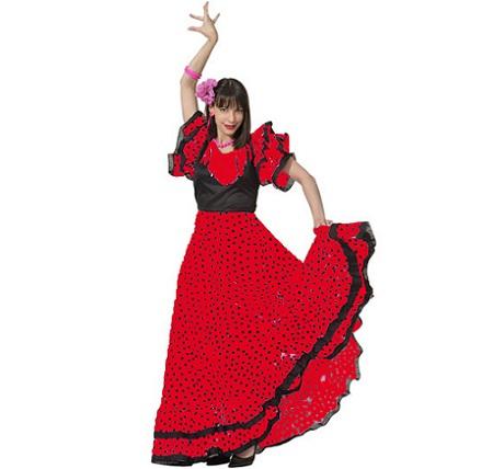 flamenca-mujer-lunares